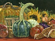 Green Beans Paintings - Autumn Harvest by Vicky Watkins