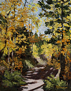 Pallet Knife Paintings - Autumn Impasto by Mary Giacomini
