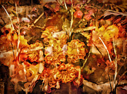 Fall Colors Autumn Colors Mixed Media Posters - Autumn Impression Abstract Poster by Lutz Baar