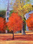Oil  Etc. Paintings - Autumn Impression by Sheila Psaledas