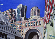 City Scape Paintings - Autumn in Boston by Kevin Martin