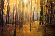 New England Art - Autumn in Connecticut by Diane Diederich