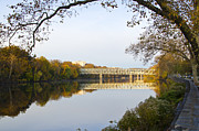 East River Drive Digital Art Posters - Autumn in East Falls Poster by Bill Cannon