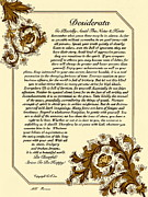 Desiderata Drawings - Autumn in Florence Desiderata Poster by Claudette Armstrong