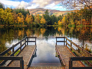 Fall Colours Framed Prints - Autumn in Glencoe Lochan Framed Print by David Bowman