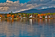 New England Village Prints - Autumn in Melvin Village Print by Brenda Jacobs