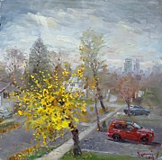 Drive In Painting Framed Prints - Autumn in Mississauga  Framed Print by Ylli Haruni