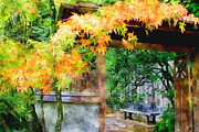 Bobbi Jacobs Acrylic Prints - Autumn in the Garden Acrylic Print by Bobbi Jacobs