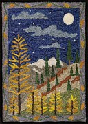 Mountains Tapestries - Textiles Posters - Autumn In The Rockies Poster by Jan Schlieper