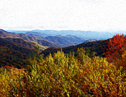 Autumn In The Smokey Mountains Print by Phil Perkins