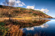 Llyn Prints - Autumn in Wales Print by Adrian Evans