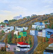 Battery Paintings - Autumn Interlude Signal Hill Battery St Johns NL by Virginia Houston