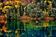 North Cascades Prints - Autumn Jade Print by Benjamin Yeager
