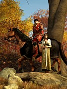 Cavalry Digital Art - Autumn Knight by Daniel Eskridge