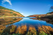 Llyn Prints - Autumn Lake Print by Adrian Evans