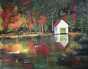 Autumn - Lake - Reflecton Print by Jan Dappen
