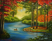 Raleigh Originals - Autumn Lake by Shelia Kempf
