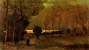 Autumn Landscape Paintings - Autumn Landscape at Dusk 1885 by Vincent Van Gogh
