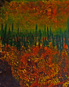 Autumn Landscape Mixed Media - Autumn Landscape by Nikol Wikman