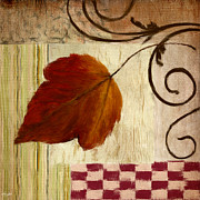Autumn Greeting Cards Prints - Autumn Leaf Print by Lourry Legarde