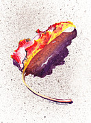 Occasion Paintings - Autumn Leaf on Fire by Irina Sztukowski