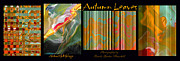 Brooks Garten Hauschild - Autumn Leaves Abstract x4