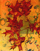 Autumn Leaves Print by Ann Powell