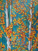 Livingstone Posters - Autumn-Leaves- Aspen Trees Poster by Beverly Livingstone
