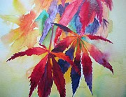 Kaleidoscope Paintings - Autumn Leaves by Pat Yager