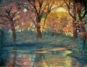 Sun Rays Pastels Originals - Autumn Light by Wade Starr