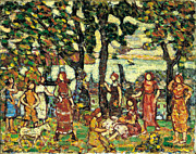 Famous Artists - Autumn by Maurice Brazil Prendergast