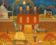 Pumpkins Paintings - Autumn Memories by Mary Charles