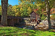Grist Mill Art - Autumn Mill by Steve Harrington
