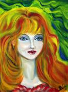 Women Paintings - Autumn Missy  by Yelena Rubin