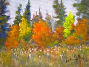 Tall Tree Paintings - Autumn by Mohamed Hirji