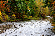 Williams Prints - Autumn Mountain River Print by Thomas R Fletcher