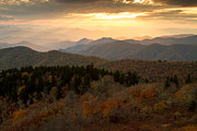 Cowee Mountain Overlook Prints - Autumn Mountains Print by Doug McPherson