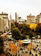 Union Square Metal Prints - Autumn - New York Metal Print by Vivienne Gucwa