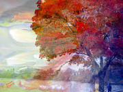 Splendor Paintings - Autumn on Greenlake Seattle by Jeanie Campbell