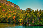 Fir Trees Photos - Autumn on Lake George by David Patterson