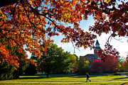 Spartans Prints - Autumn on Michigan State Campus Print by John McGraw