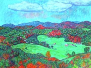 Mountain Valley Pastels - Autumn on the Blue Ridge by Kendall Kessler