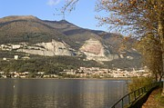 Italian Landscapes Posters - Autumn on the Lake Pusiano Italy Poster by Federico Cimino
