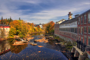 Fall River Scenes Prints - Autumn on the Souhegan Print by Joann Vitali