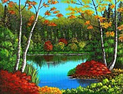 Autumn On The Water Print by Cyndi Kingsley