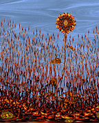 Surrealism Digital Art - Autumn on Venus by Deborah Smith