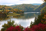 Smokey Mountains Digital Art - Autumn on Watauga Lake by Annlynn Ward