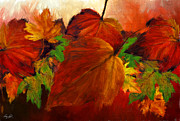 Red Maple Trees Posters - Autumn Passion Poster by Lourry Legarde