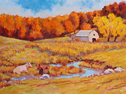 Cattle-shed Originals - Autumn Pastoral by Keith Burgess