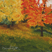 Monica Veraguth Prints - Autumn Path at Bluffside Print by Monica Veraguth